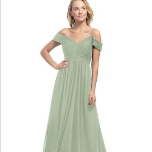Azazie Dusty Sage, Style Aja Bridesmaid Dress